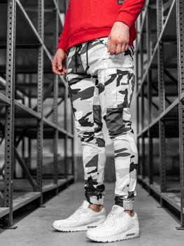 Штани чоловічі джоггери камуфляж-сірі Bolf 1005