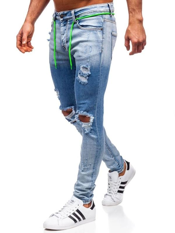 Джинси чоловічі skinny fit темно-сині Bolf KA1728