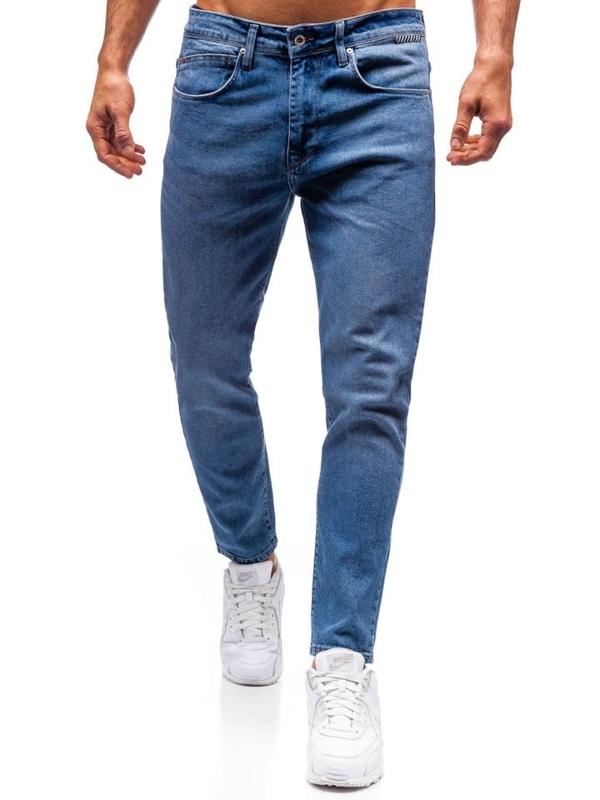 Джинси чоловічі slim fit сині Blue Bolf 7157