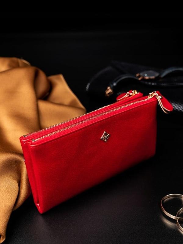 Жіночий гаманець з еко шкіри червоний 1826
