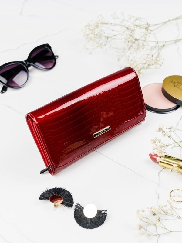 Жіночий шкіряний гаманець червоний 2095