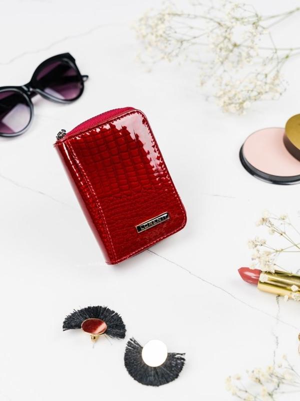 Жіночий шкіряний гаманець червоний 2109