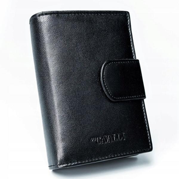 Жіночий шкіряний гаманець чорний 2777