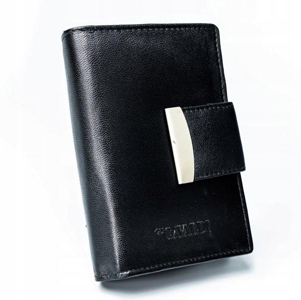 Жіночий шкіряний гаманець чорний 2778