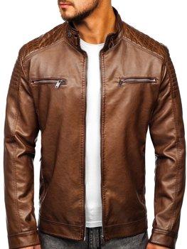 Коричнева чоловіча куртка косуха Bolf 2008