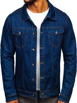 Куртка джинсова чоловіча темно-синя Bolf 1110