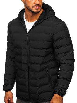 Куртка чоловіча зимова спортивна чорна Bolf SM67