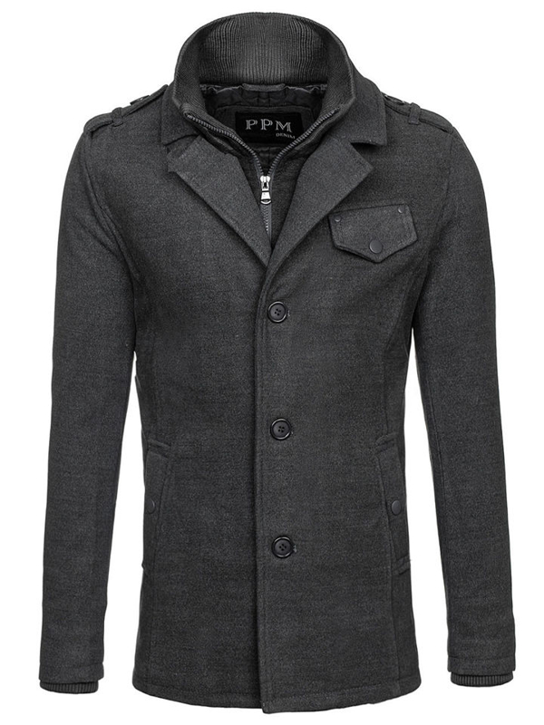 Пальто чоловіче сіре Bolf 8853F
