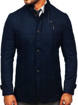 Пальто чоловіче темно-синє Bolf EX66A