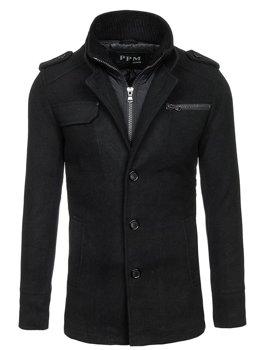 Пальто чоловіче чорне Bolf 8856C