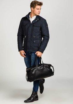 Темно-синя чоловіча демісезонна куртка Bolf 1668