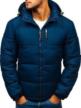 Чоловіча зимова спортивна куртка темно-синя Bolf AB71