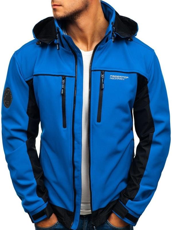 Чоловіча куртка софтшелл синя Bolf 2339