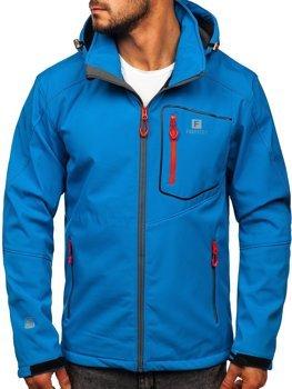 Чоловіча куртка софтшелл синя Bolf AB152