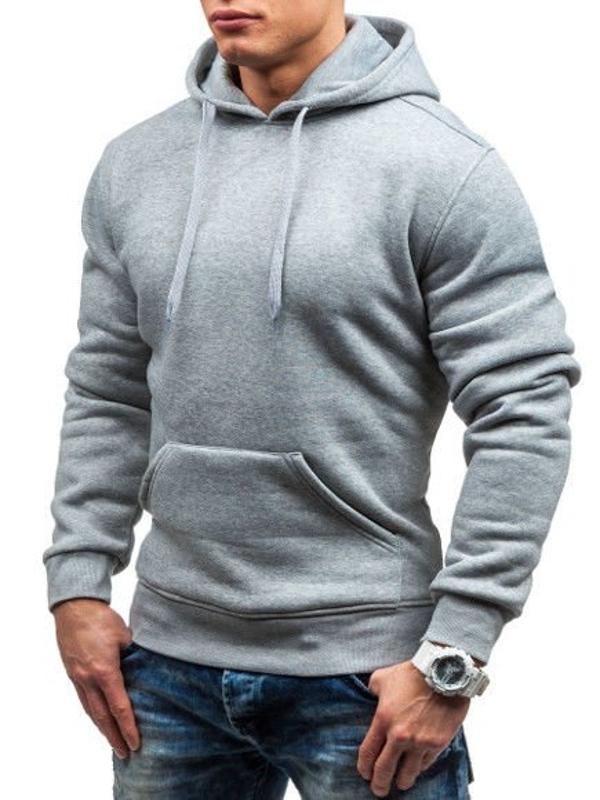 Чоловіча толстовка з капюшоном сіра Bolf M16
