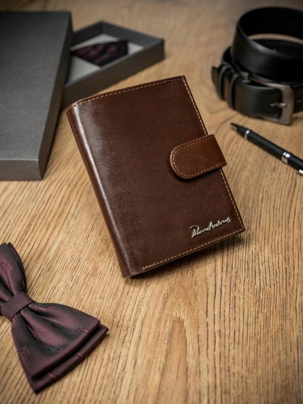 Чоловічий гаманець шкіряний коричневий 1677