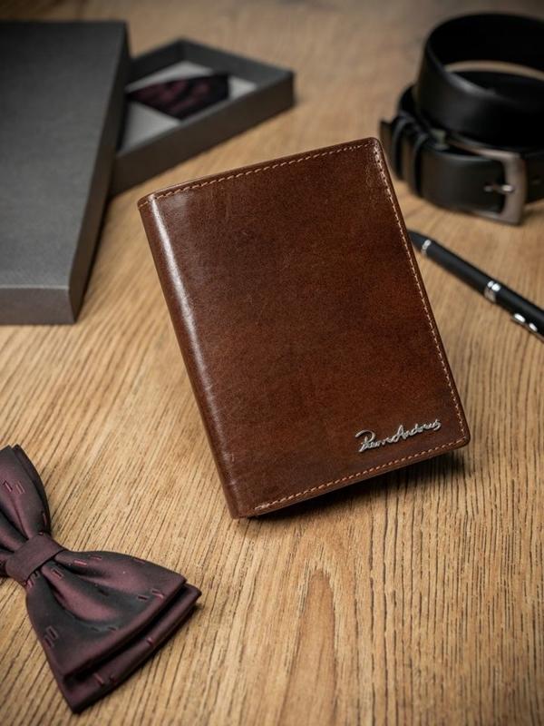 Чоловічий гаманець шкіряний коричневий 1682