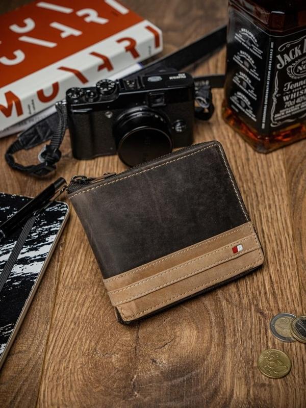 Чоловічий гаманець шкіряний коричневий 2039