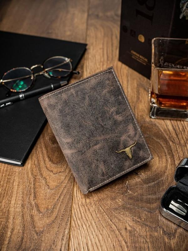 Чоловічий гаманець шкіряний світло-коричневий 62