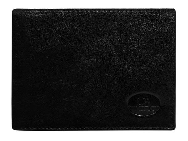 Чоловічий гаманець шкіряний чорний 102