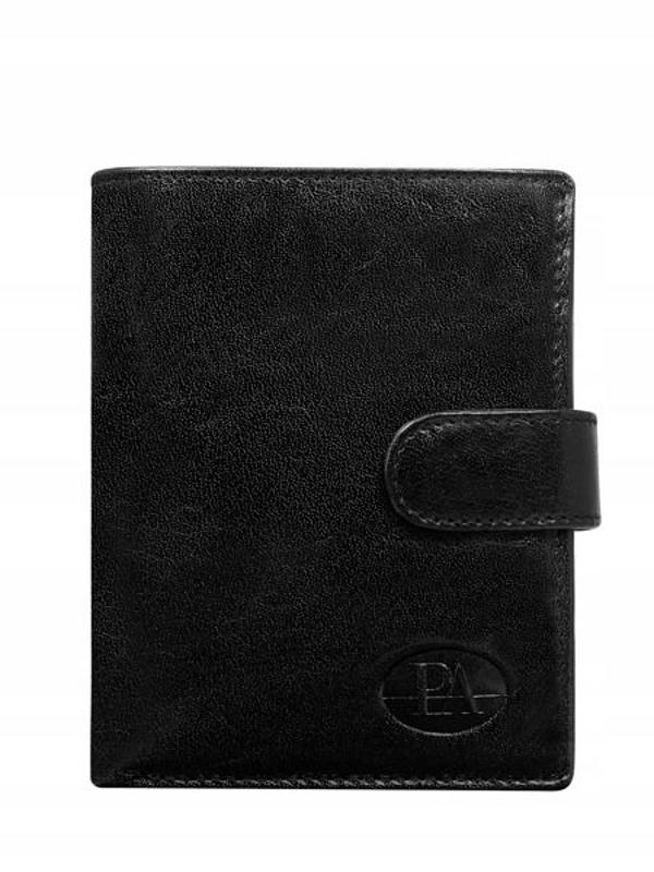 Чоловічий гаманець шкіряний чорний 104