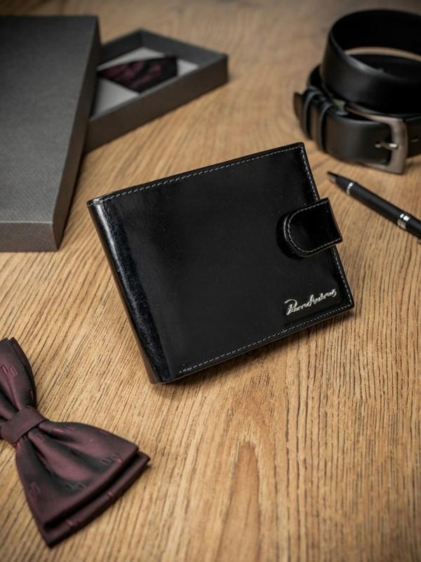Чоловічий гаманець шкіряний чорний 1689