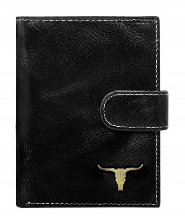 Чоловічий гаманець шкіряний чорний 50