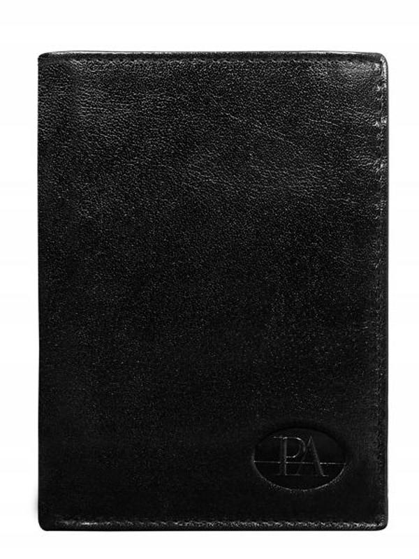 Чоловічий гаманець шкіряний чорний 76