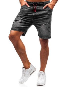 Чоловічі джинсові шорти графітові Bolf KK101