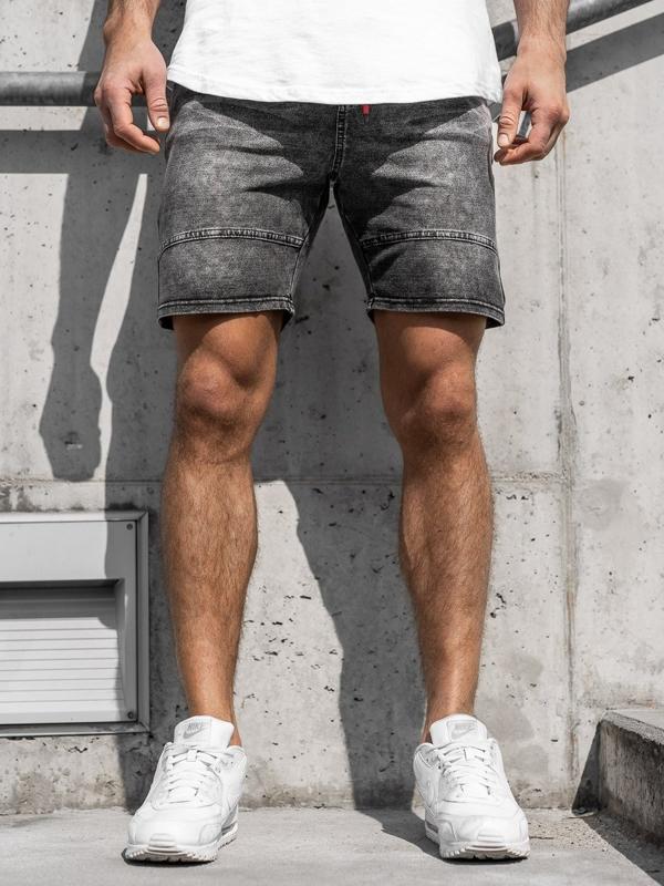 Чоловічі джинсові шорти графітові Bolf KK105