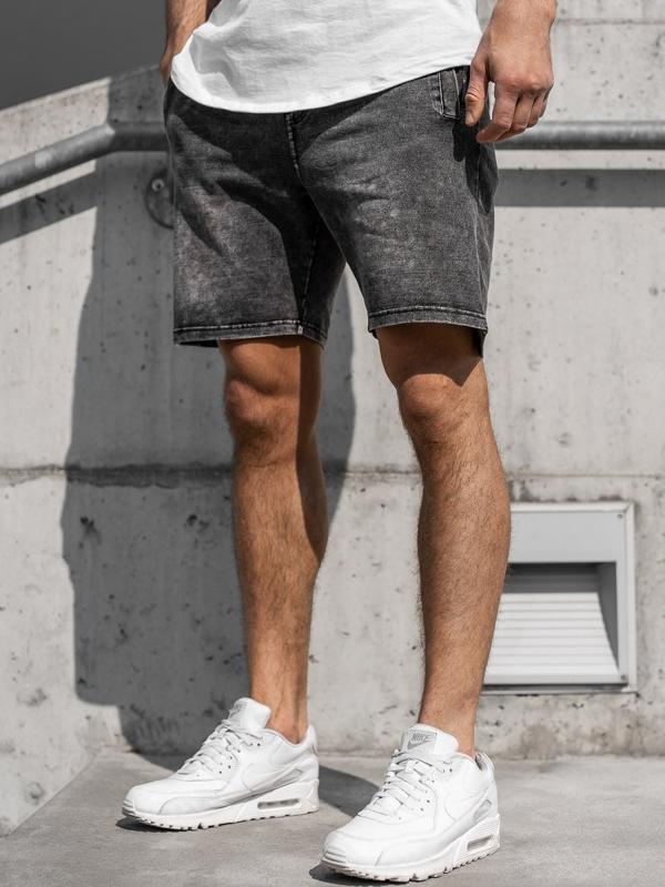 Чоловічі джинсові шорти графітові Bolf KK106