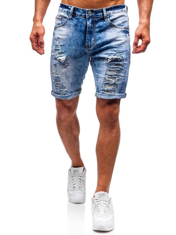 Чоловічі джинсові шорти сині Bolf T567