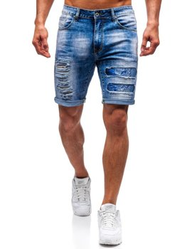 Чоловічі джинсові шорти сині Bolf T577