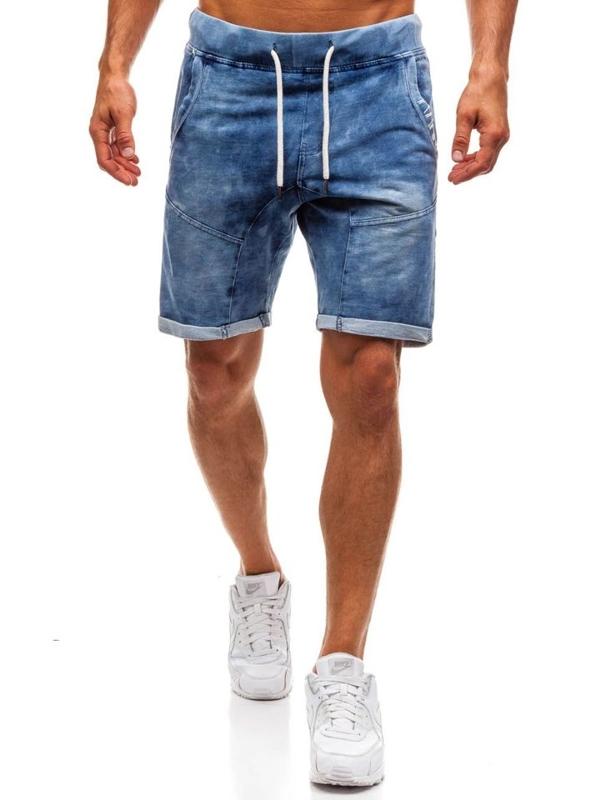 Чоловічі джинсові шорти темно-сині Bolf EX01