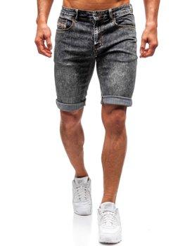 Чоловічі джинсові шорти чорні Bolf 7796