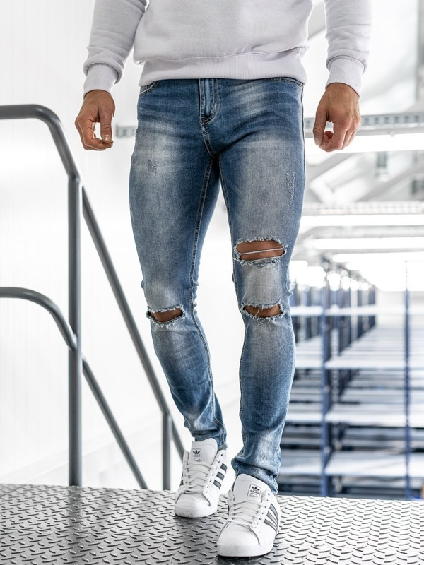 Чоловічі джинсові штани сині Bolf 3943