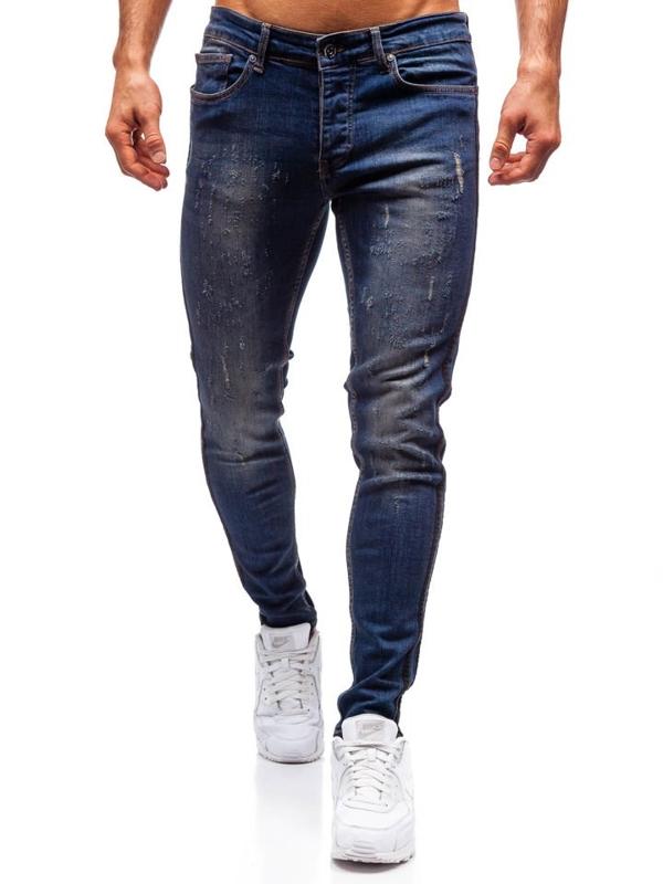 Чоловічі джинсові штани темно-сині Bolf 1014