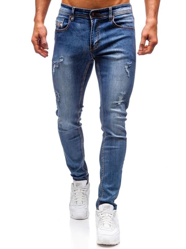 Чоловічі джинсові штани темно-сині Bolf 71833