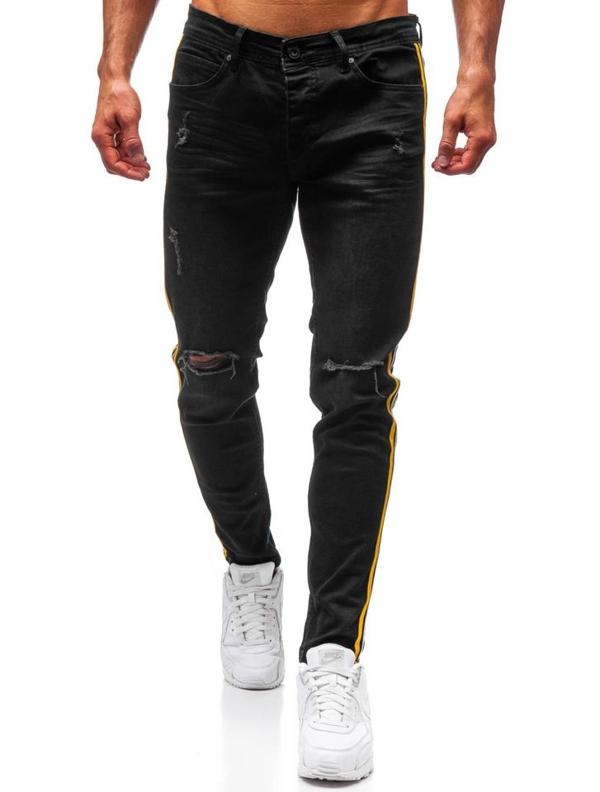 Чоловічі джинсові штани чорні Bolf 1011