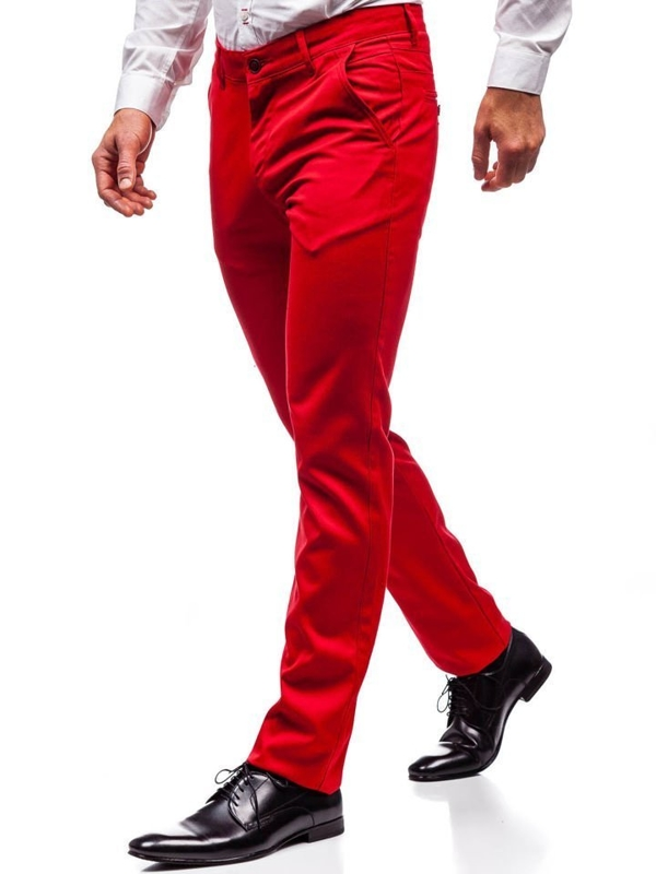 Штани чоловічі червоні Bolf 3149