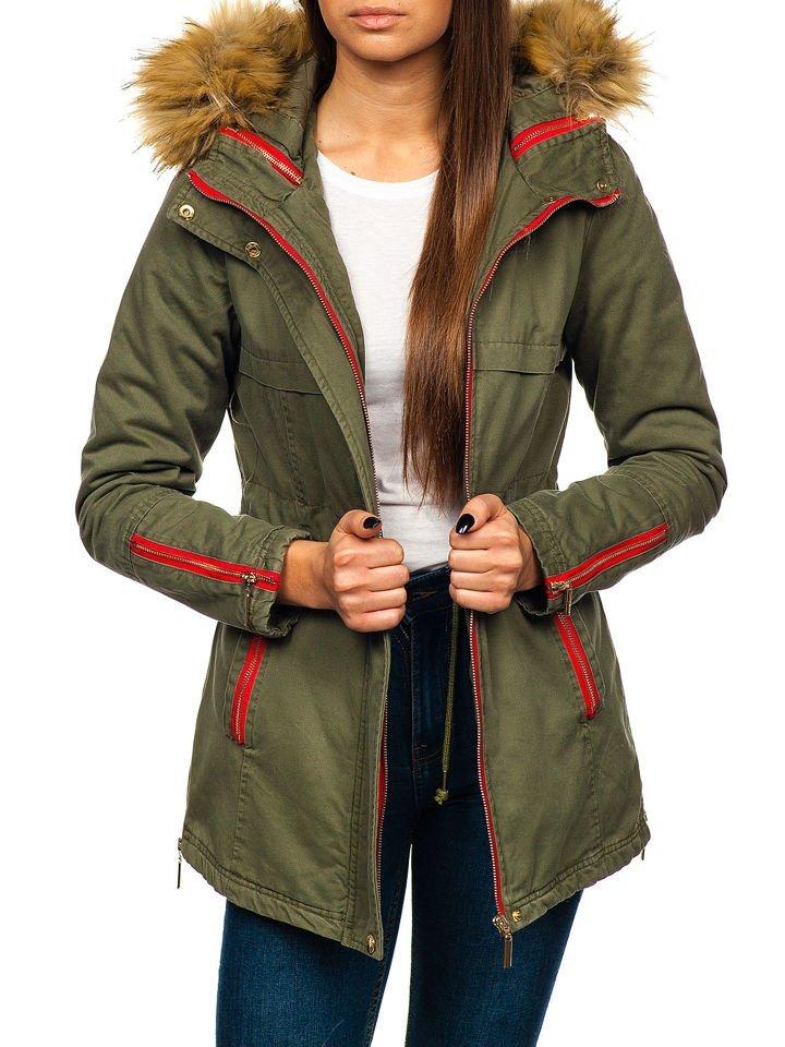 Жіноча зимова куртка зелена Bolf M888 bfa0d577abe2c