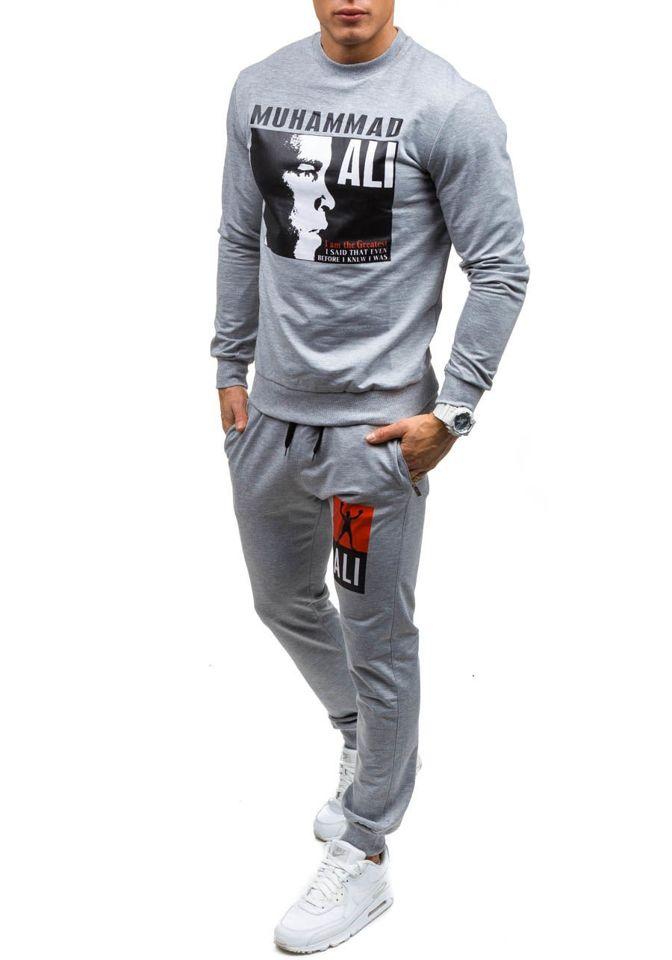 e6b58c0d1a6b07 Спортивний костюм чоловічий ATHLETIC 0362 сірий SZARY
