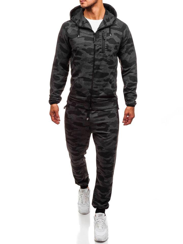 499f8d83a08fe9 Спортивний костюм чоловічий ATHLETIC 0481 антрацит-камуфляж СВІТЛО ...