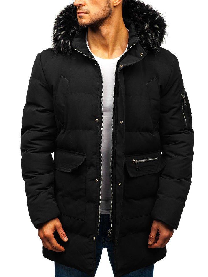 Чоловіча зимова куртка парка чорна Bolf 5585 ЧОРНИЙ 7b490881d744b