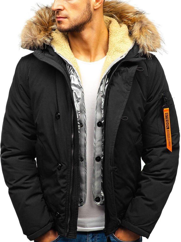 Чоловіча зимова куртка чорна Bolf AM703 ЧОРНИЙ f4e74794e418c