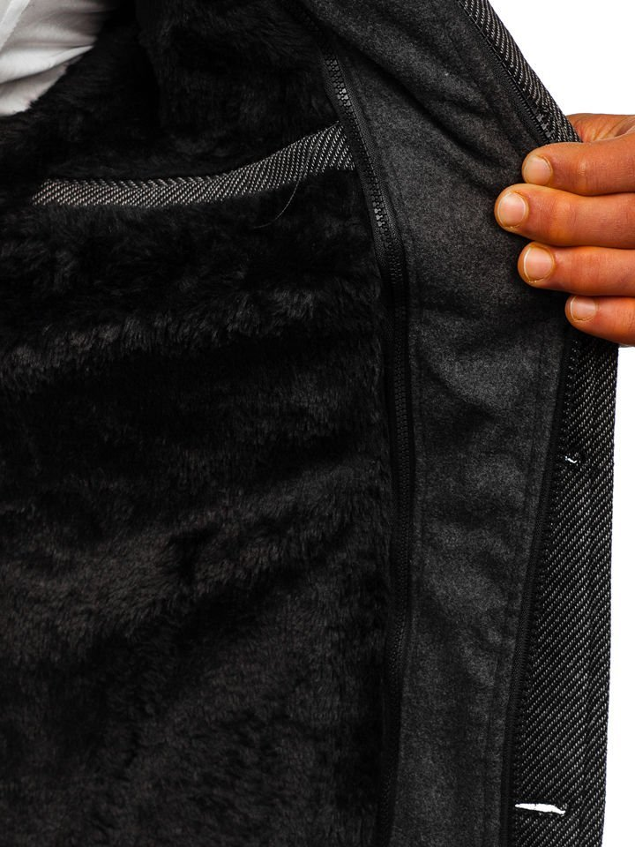 Чоловіче зимове пальто сіре Bolf 88805 aab502306e03f