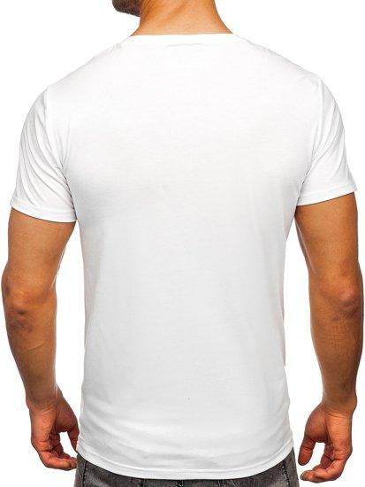 Біла чоловіча футболка з принтом Bolf Y70015