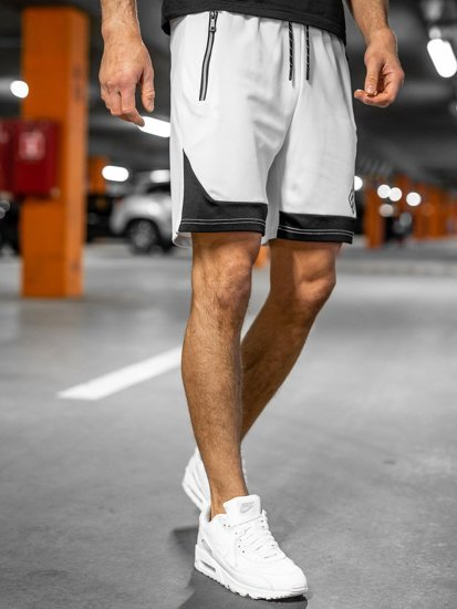 Білі чоловічі спортивні шорти Bolf KS2606
