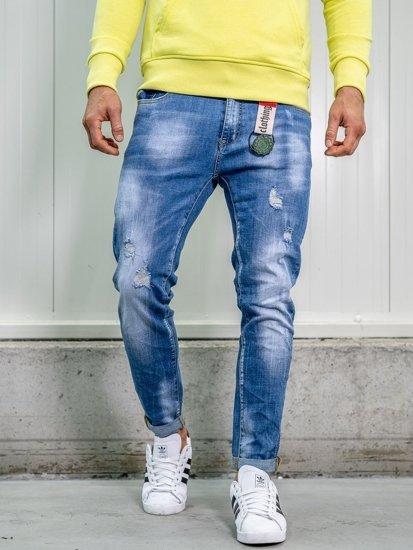 Джинси чоловічі regular fit темно-сині Bolf KX297