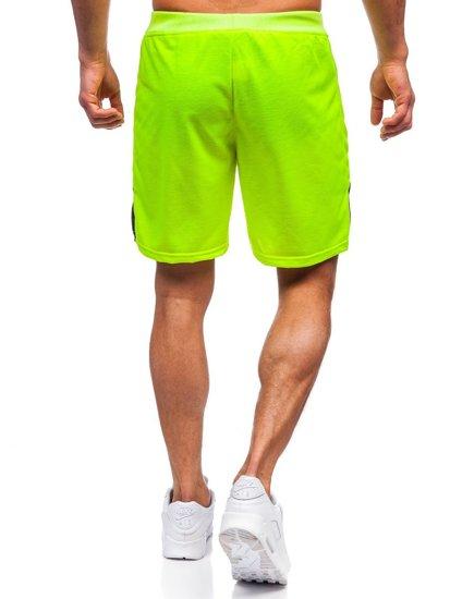 Жовто-неонові чоловічі спортивні шорти Bolf KS2559
